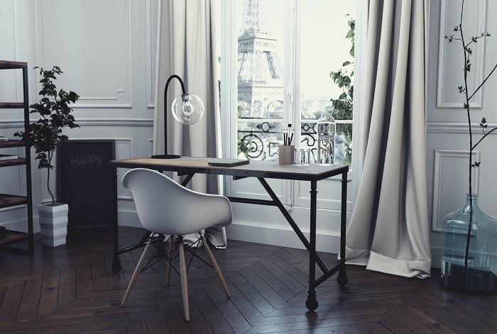 Image 3D photoréaliste d'un appartement parisien pour Hapsode par Lagoon Studios animation 2D/3D et VFX