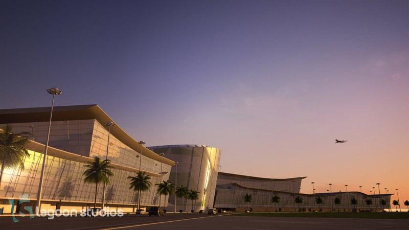 port de Kribi - image 3D de l'aéroport par lagoon studios studios d'animation 2D/3D et VFX