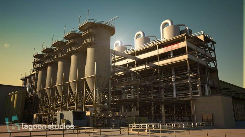 port de Kribi - image 3D industrie par lagoon studios studios d'animation 2D/3D et VFX