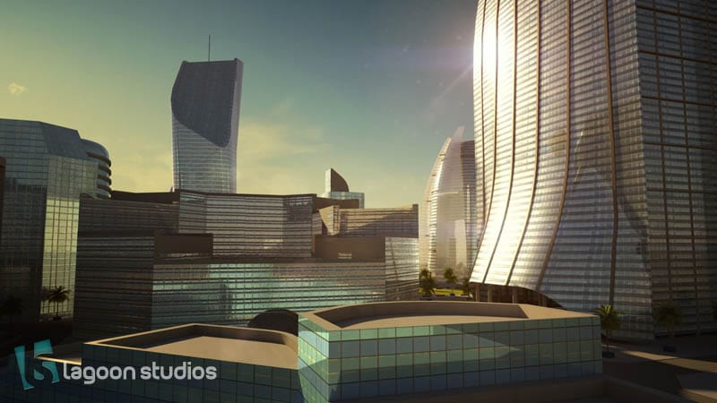 port de Kribi - image 3D ville par lagoon studios studios d'animation 2D/3D et VFX