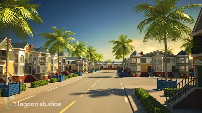 port de Kribi - image 3D habitation par lagoon studios studios d'animation 2D/3D et VFX