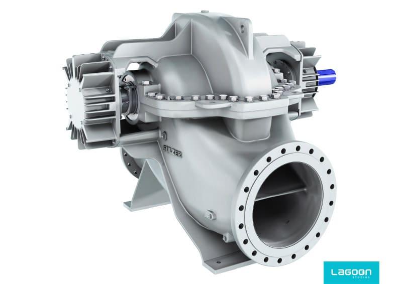 image 3D de la pompe SMD sulzer par lagoon studios animation 2D/3D et VFX