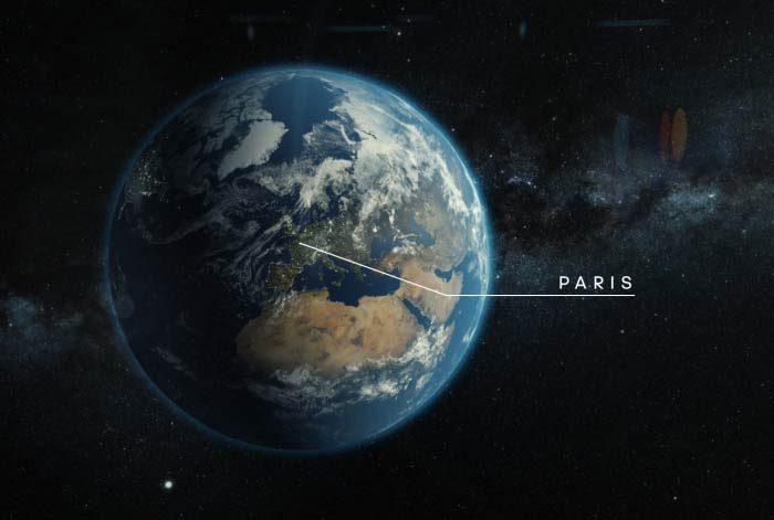 image terre 3D pour ubi bene et Paris 2024 par Lagoon Studios animation 2D&3D et VFX